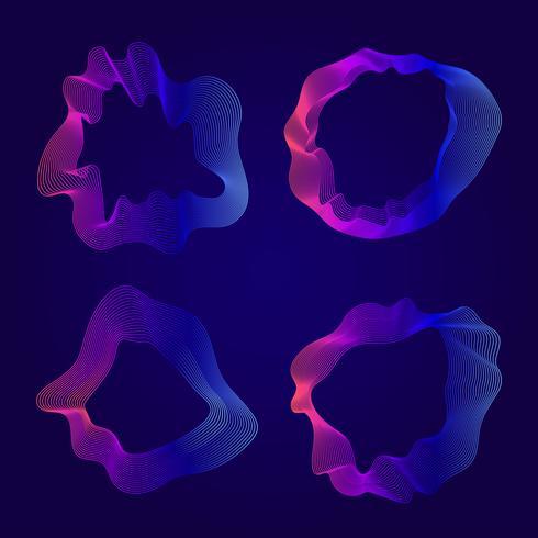 Kleurrijke abstracte contourlijnen collectie