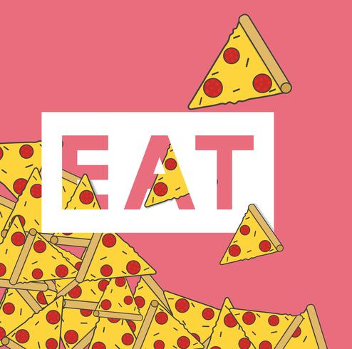 Illustration av pizza skivor