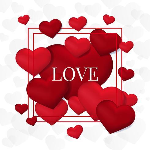 Alla hjärtans dag kort illustration