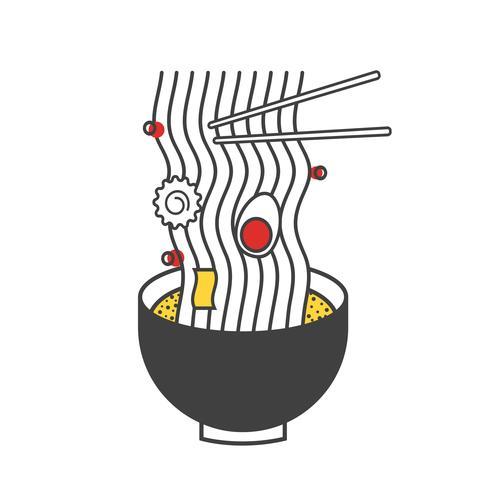 Illustrazione di ramen noodle