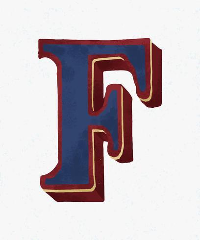 Huvudstämpel F typografi typografi