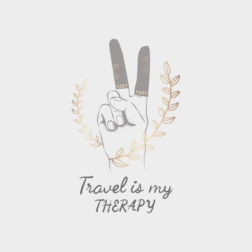 Hand getrokken reizen ontwerp