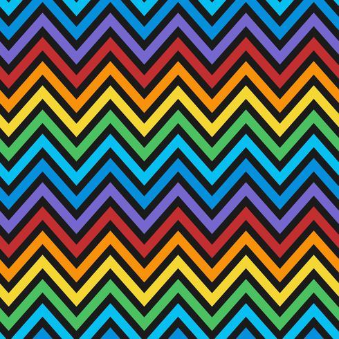 Vecteur de motif coloré sans soudure zig zag
