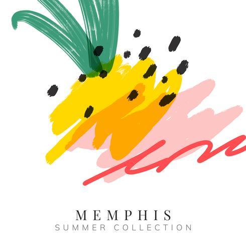 Memphis summer background illustration