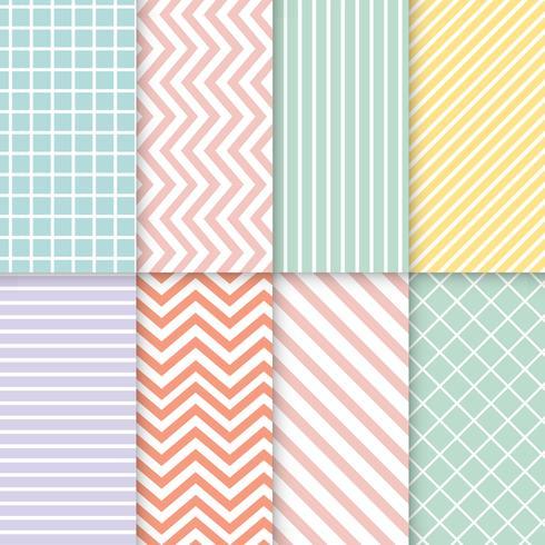 Conjunto de vector de patrón transparente mezclado pastel