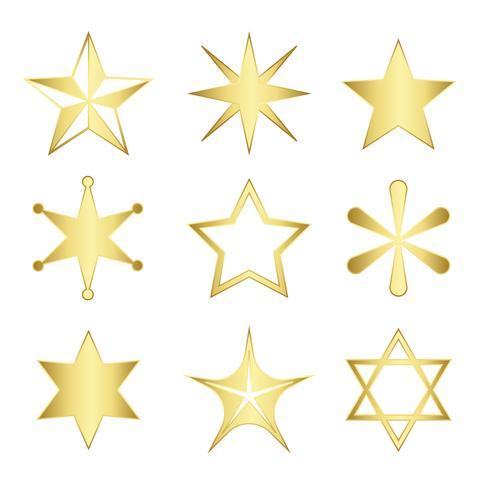 Set med blandade stjärnor vektor