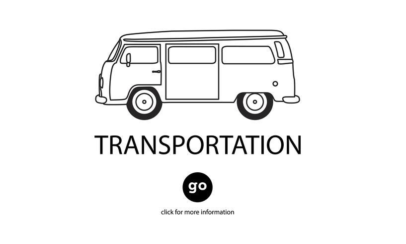 Illustration av transport
