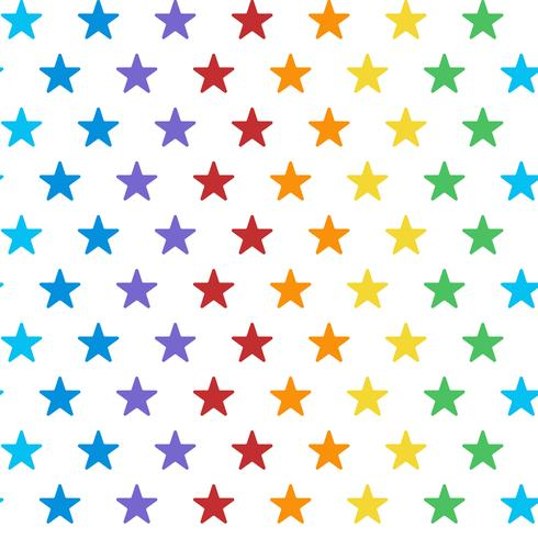 Vector de patrón de estrella colorido transparente