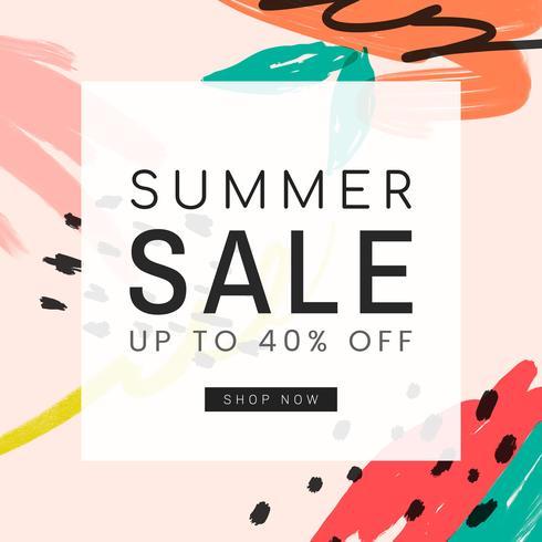 Memphis zomer verkoop ontwerp illustratie