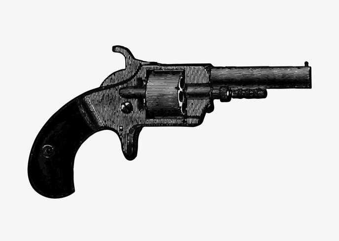 Gun in vintage style
