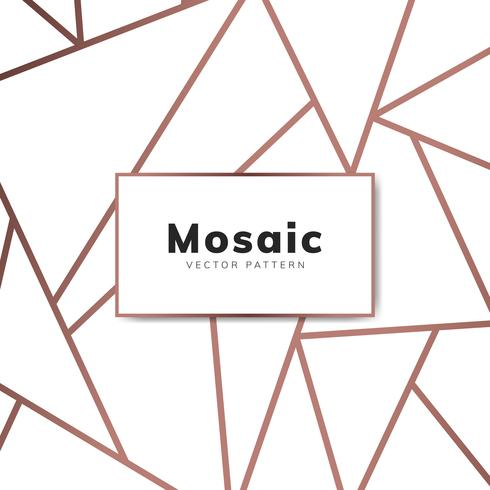Carta da parati moderna in mosaico in oro rosa e bianco