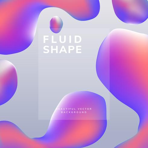 Diseño de papel tapiz degradado fluido vector