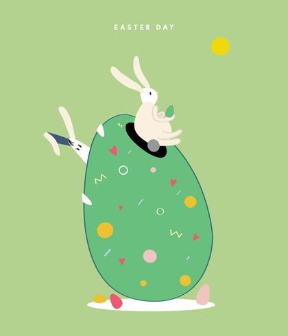 Illustrazione di concetto di felice giorno di Pasqua