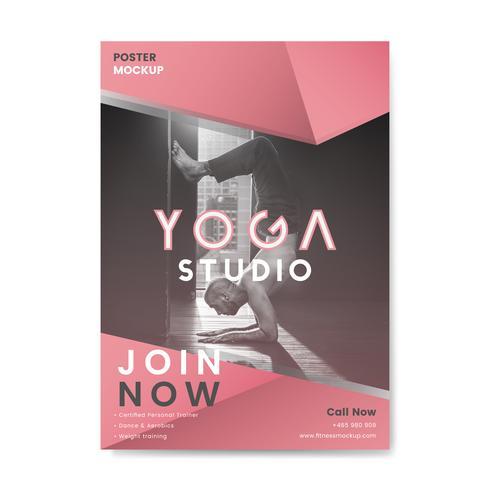 Yoga studio promotional poster vector