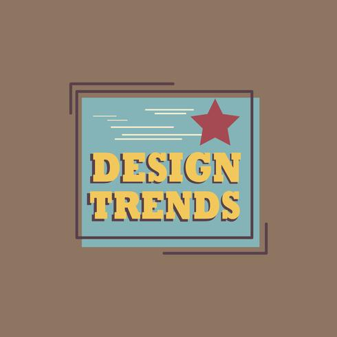 Vecteur de logo design tendances badge