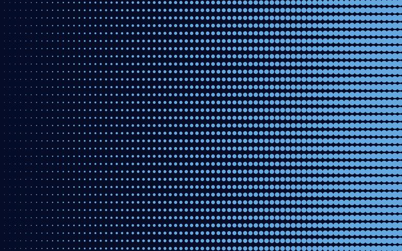 Vector de fondo de semitono degradado azul