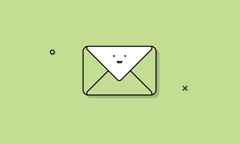 Ilustração, de, correio, ícone