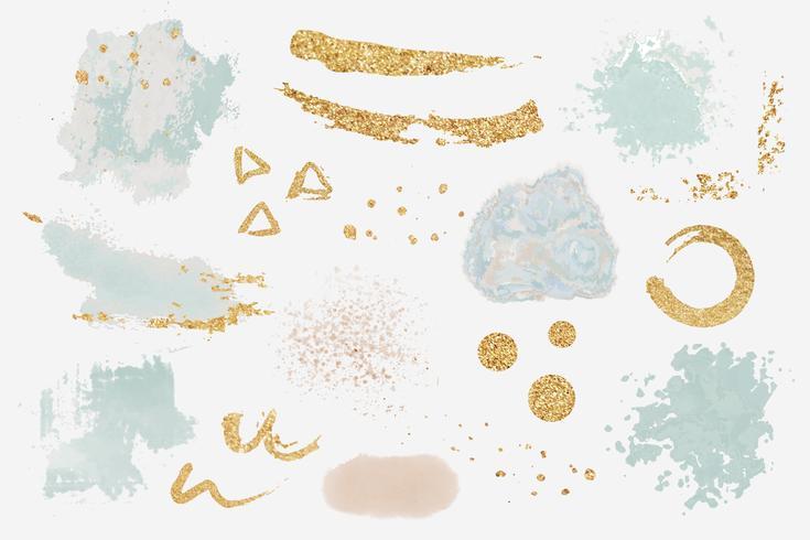 Kleurrijke verf geklater set