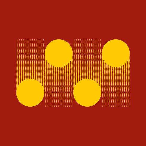 Yellow dots halftone background vector