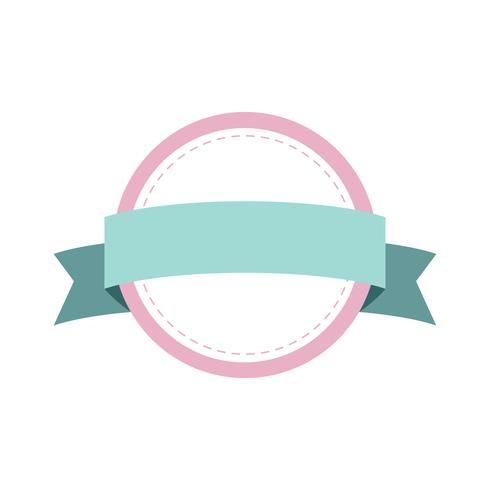 Pastell ram märke design vektor