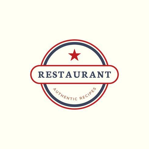 En stjärna restaurang ikon illustration