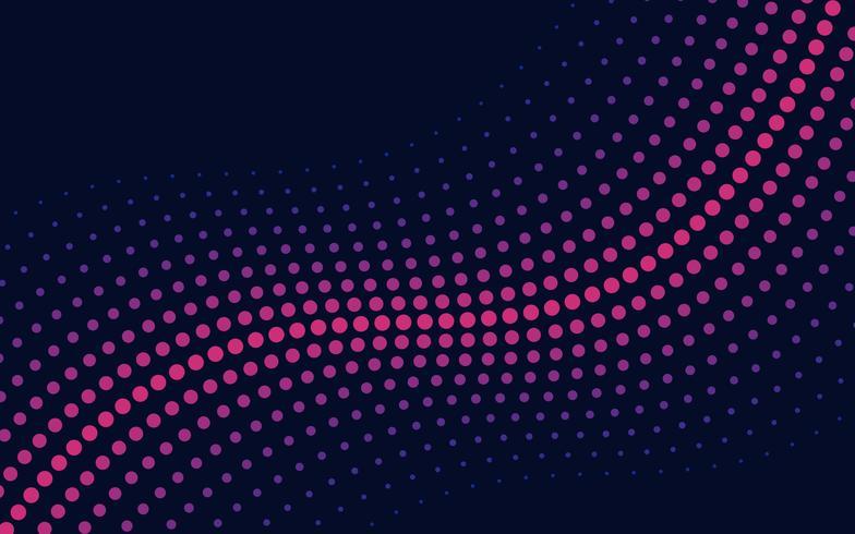 Ola de semitono de color rosa