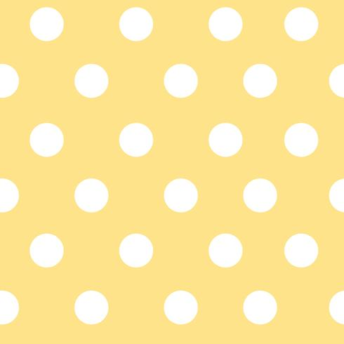 Yellow and white seamless polka dot pattern vector