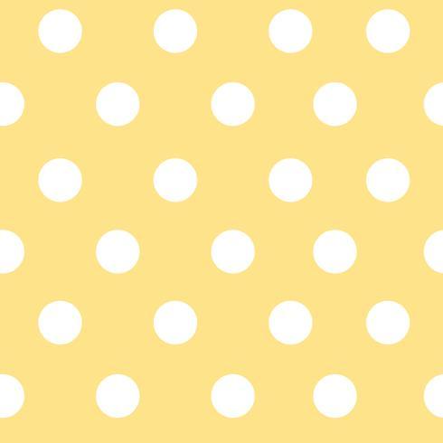 Vettore senza cuciture giallo e bianco del modello di pois