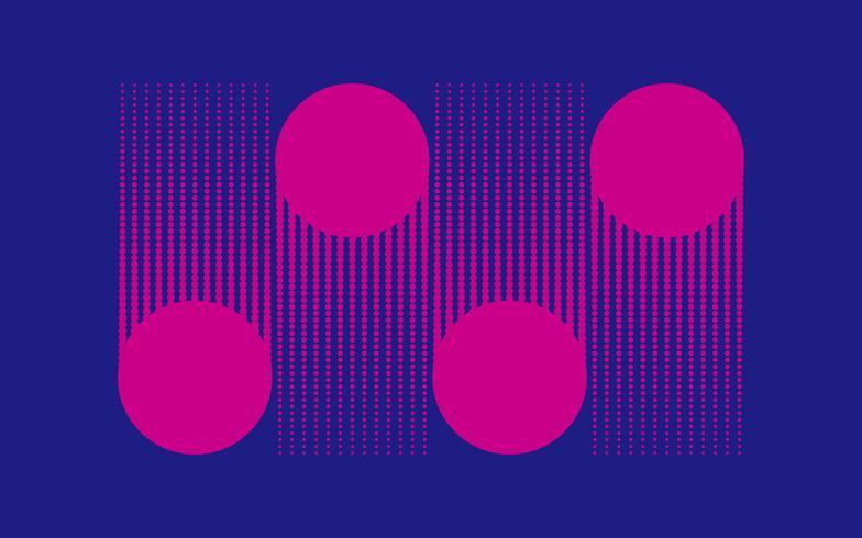 Diseño de semitono de puntos rosados