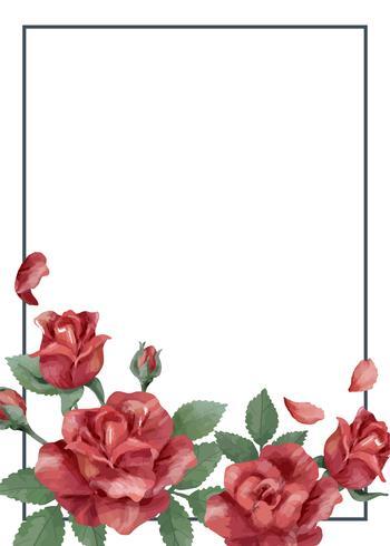 Einladungskarte mit roter Farbgebung