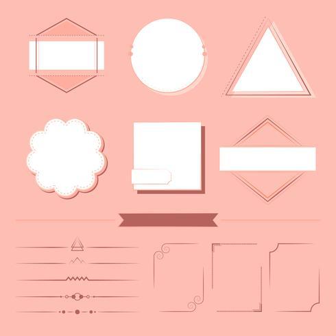 Ensemble de vecteur d'éléments de conception