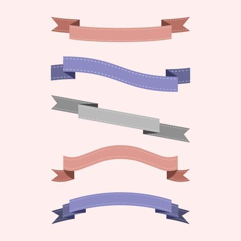 Conjunto de vetores de fita colorida