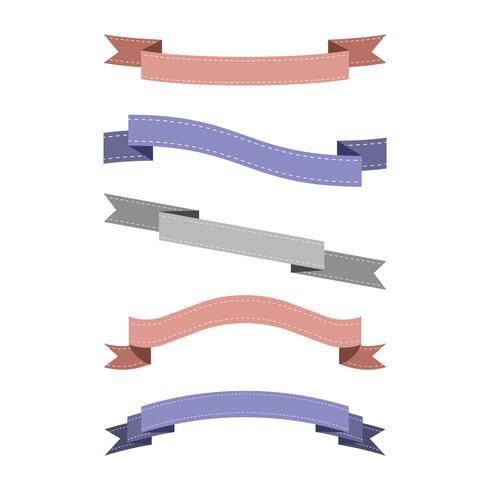 Set med färgglada bandet vektorer