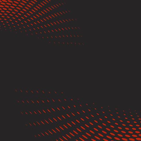 Golvende halftone in rood en zwart