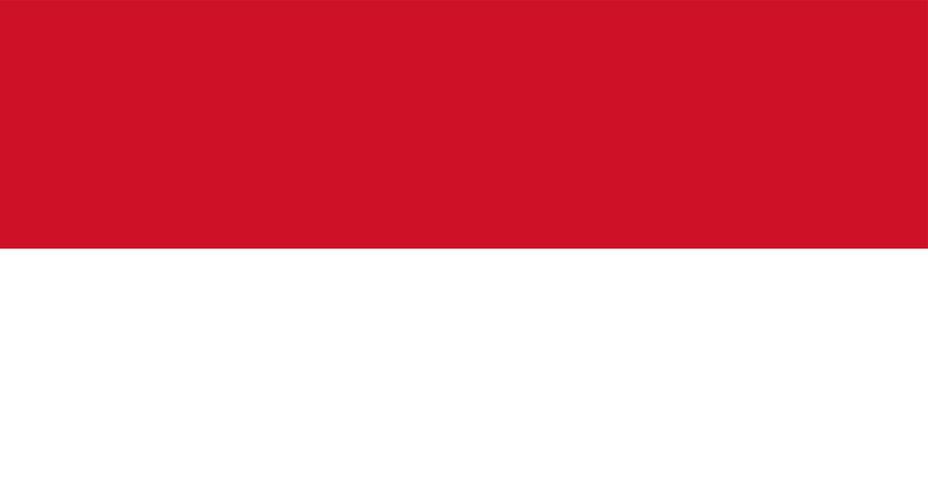 Illustration of Indonesia flag
