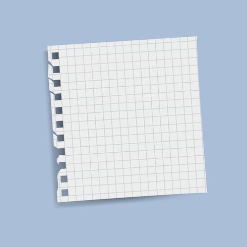 Lege vierkante rasterherinnering notitie vector
