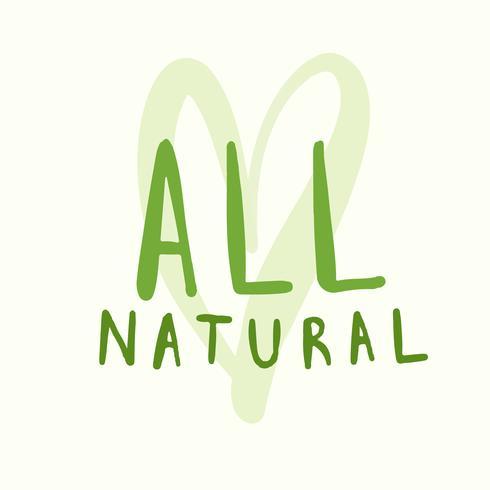 Alle natuurlijke typografievector in groen