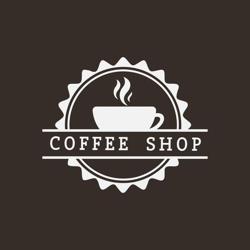 Vetor de logotipo retrô café