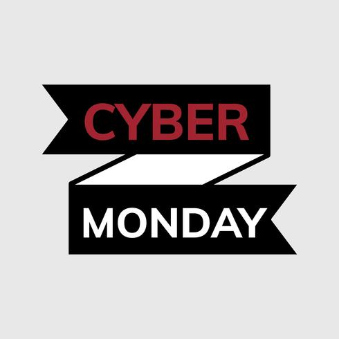 Schwarzer Cyber-Montag-Werbevektor