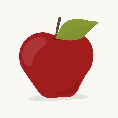 Hand gezeichnete Apfelfruchtillustration