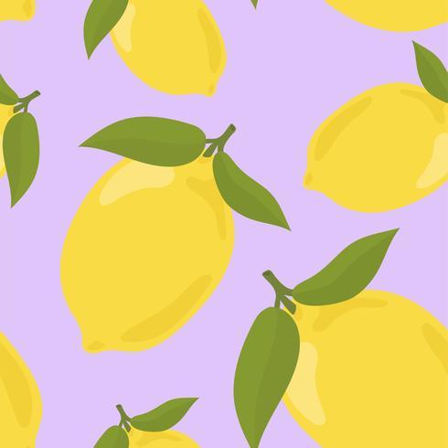 Kleurrijk hand getrokken citroenpatroon