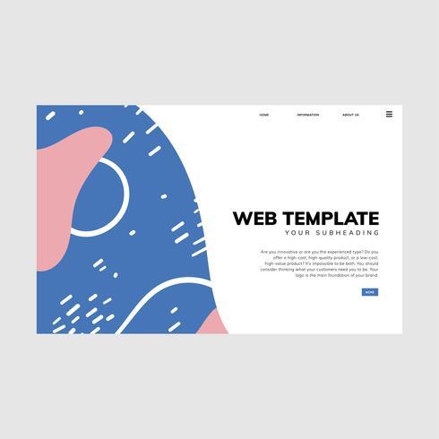 Bunte geometrische Memphis-Art-Webschablone