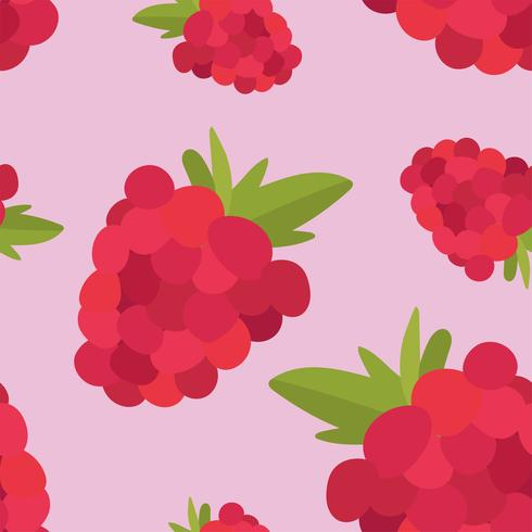 Colorful hand drawn raspberry pattern