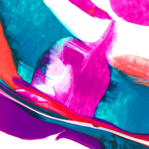 Vibrantly painted canvas