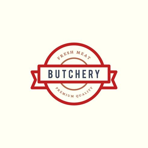 Carnicería tienda logo diseño ilustración