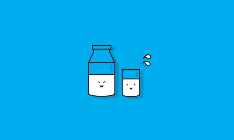 Mjölkflaska Glas Vector Icon Concept