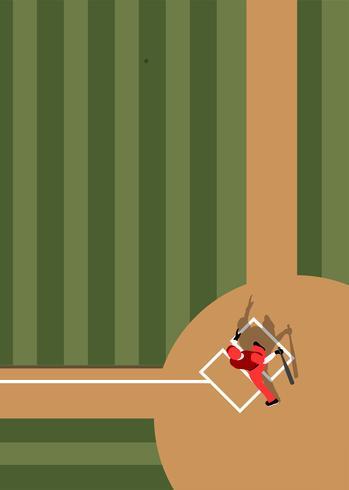 Veduta aerea del campo da baseball
