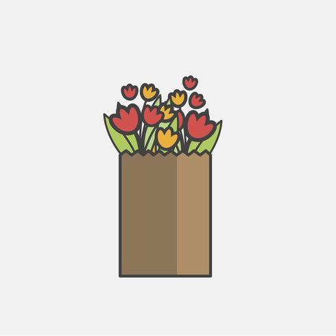 Illustration av blomma vektor