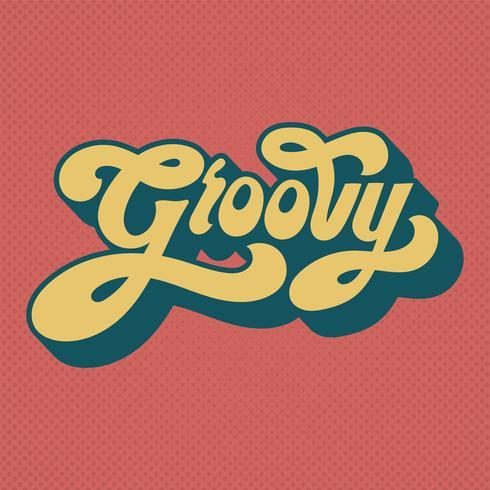 Hip woord typografie stijl illustratie