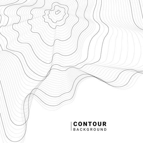 Ilustración tipográfica abstracta monocromática